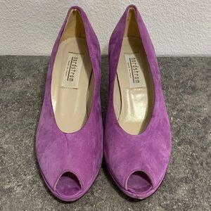 Purple Vintage Suede Kitten Heels